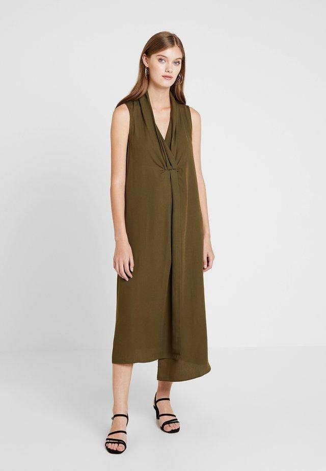 Długa sukienka - khaki