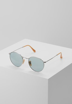 ROUND METAL - Sunglasses - silver photo blue