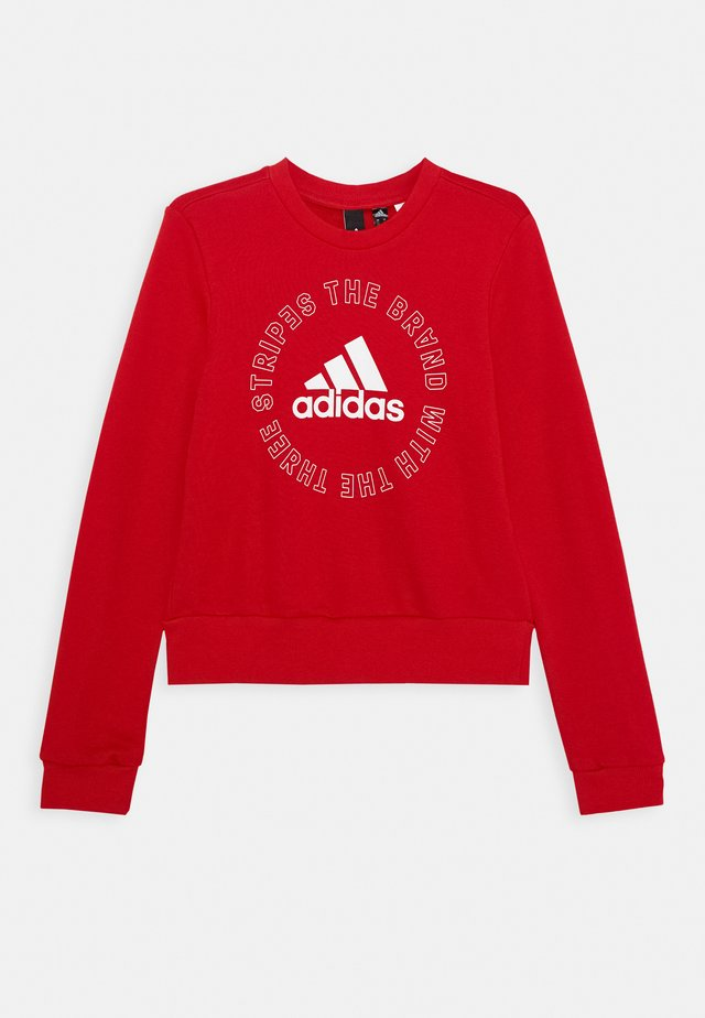 BOLD  - Sweatshirt - scarlet/white