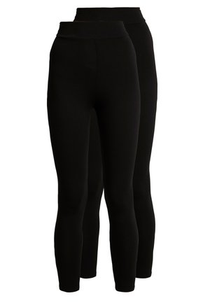 HIGH WAISTED 2 PACK - Legginsy - black