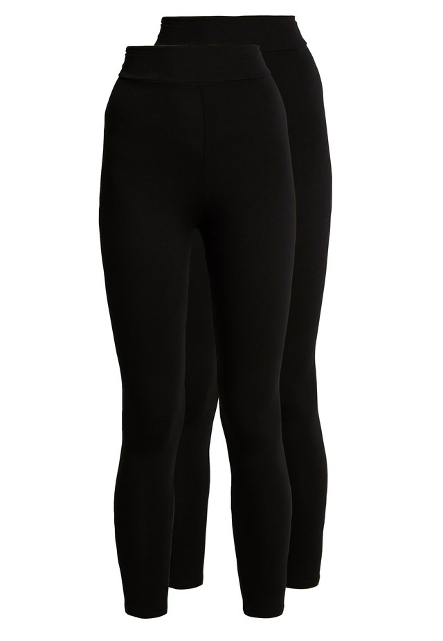HIGH WAISTED 2 PACK - Leggings - Trousers - black