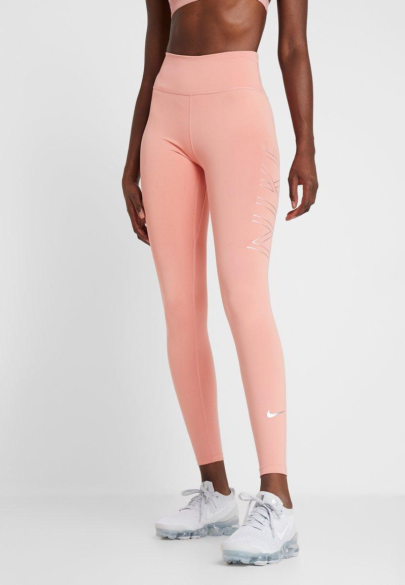 Nike Performance - RUN  - Tights - pink quartz/metallic silver