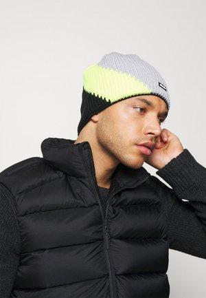 TRACK - Mütze - schwarz/gelb/hellgraumeliert