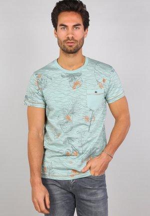 Print T-shirt - meadow green