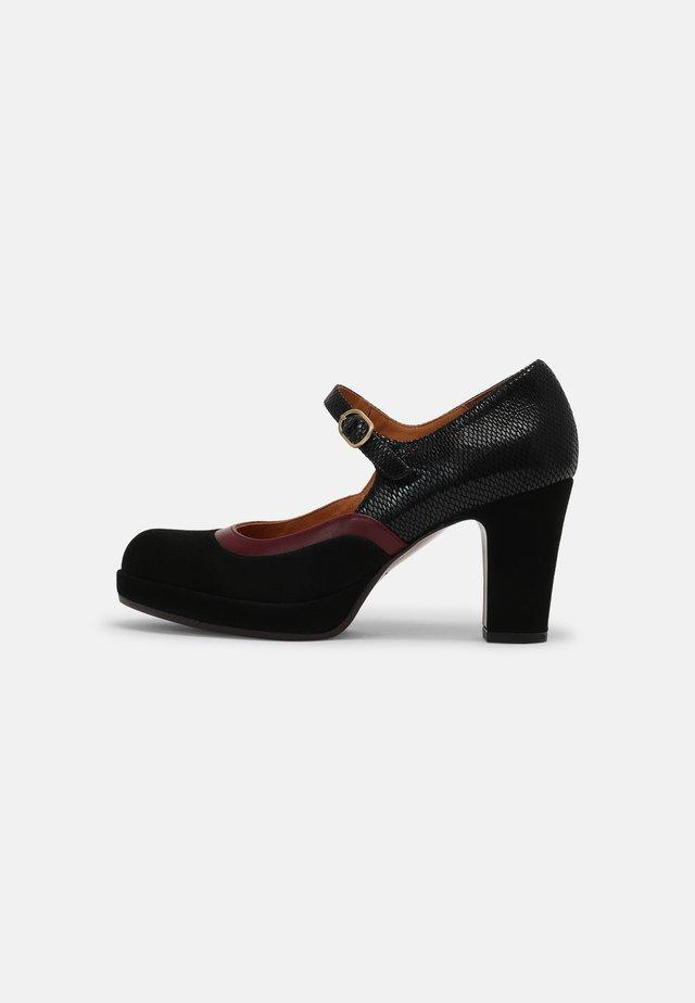 JUNA39 - Klassieke pumps - black/grape
