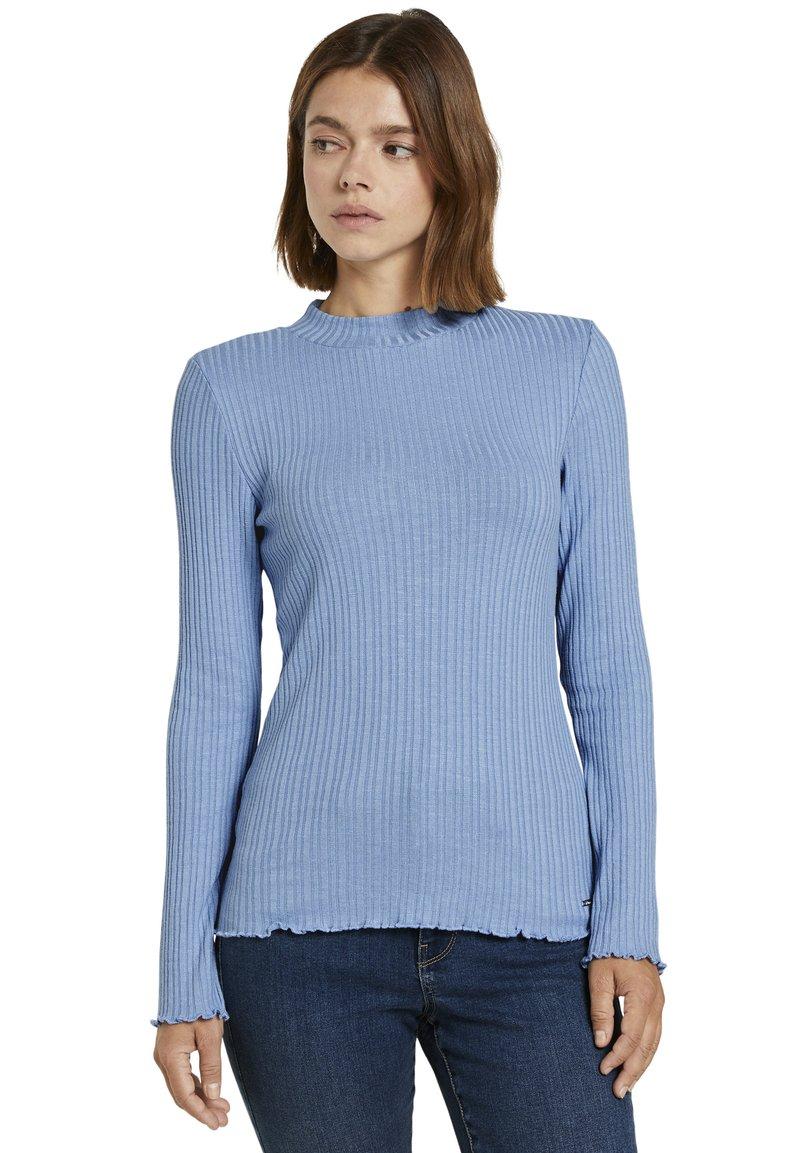 TOM TAILOR DENIM - Long sleeved top - summer blue
