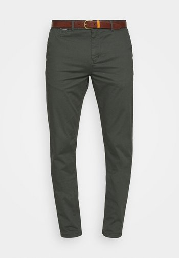 NEW BELTED  - Chinosy - charcoal