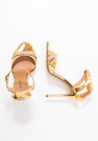 Pura Lopez - High heeled sandals - mirror gold - 3