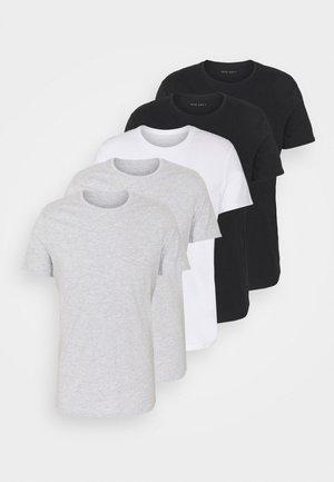 5 PACK - Basic T-shirt - black/white