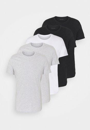 5 PACK - T-shirt basique - black/white