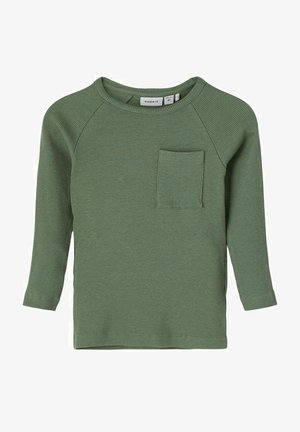 Long sleeved top - duck green
