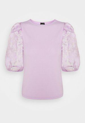 POLLY TOP - Print T-shirt - light purple