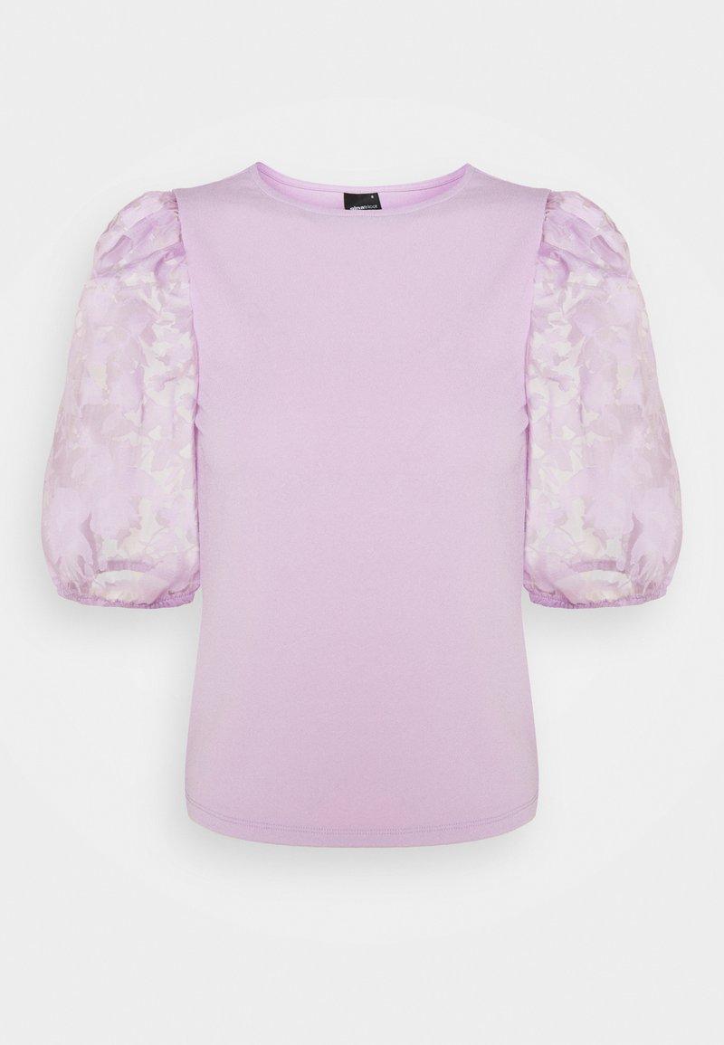 Gina Tricot - POLLY TOP - Print T-shirt - light purple