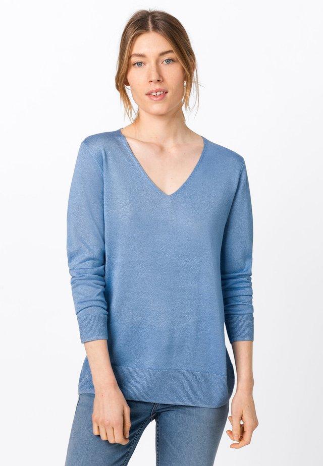 MIT LUREXGARN - Pullover - blue