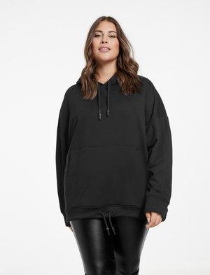 MIT SIGNATUR AM ÄRMEL - Sweatshirt - black