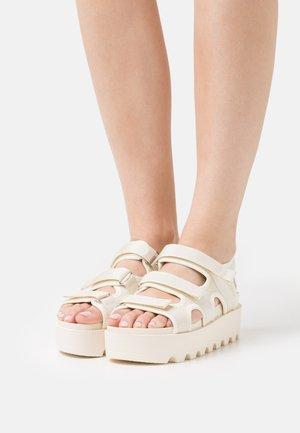 VEGAN KATO PADDED CHUNKY - Platform sandals - offwhite