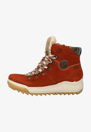 Lace-up ankle boots - ziegel/wood/orange-multi/kastanie 38