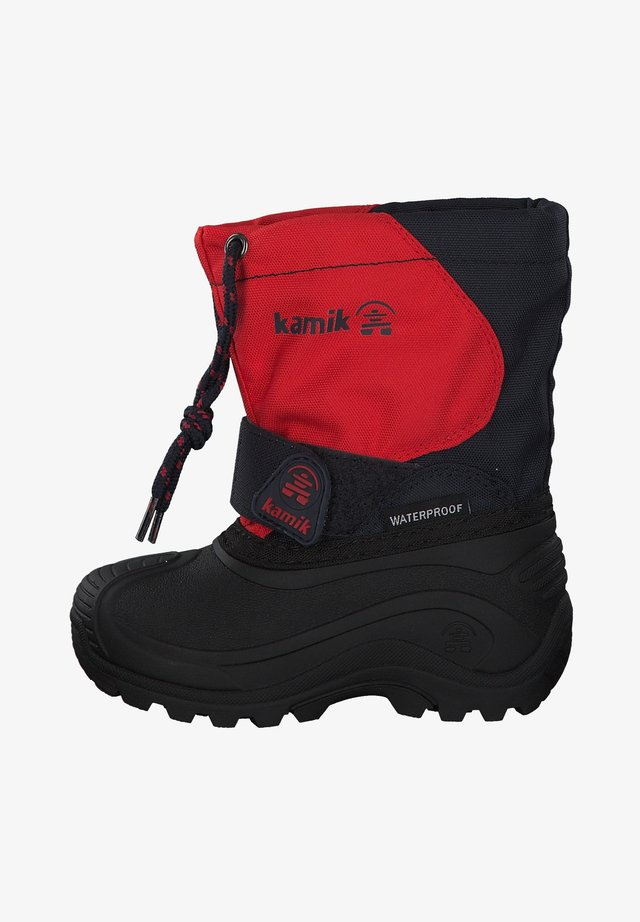 Winter boots - red/navy