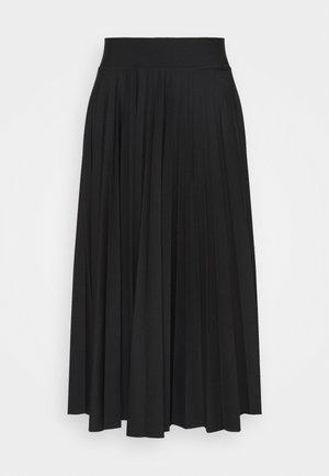 PER PLISSÈE - A-snit nederdel/ A-formede nederdele - black