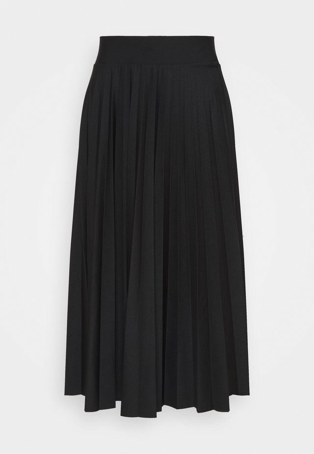 PER PLISSÈE - Spódnica trapezowa - black