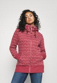 Ragwear Plus - NESKA PRINT ZIP - Zip-up sweatshirt - raspberry - 0