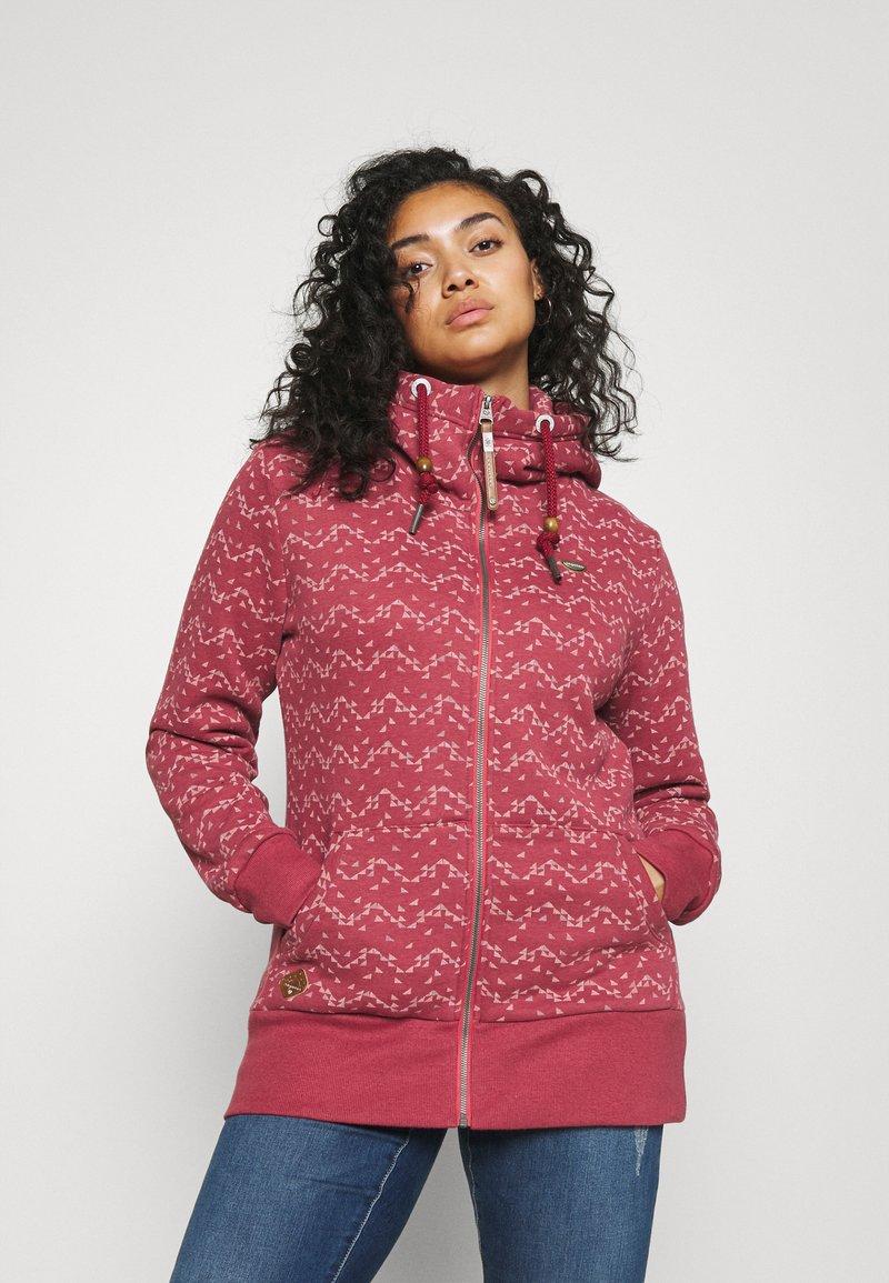 Ragwear Plus - NESKA PRINT ZIP - Zip-up sweatshirt - raspberry
