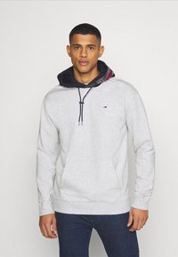 Tommy Jeans - CONTRAST HOOD GRAPHIC HOODIE UNISEX - Sweatshirt - twilight navy/silver grey - 0