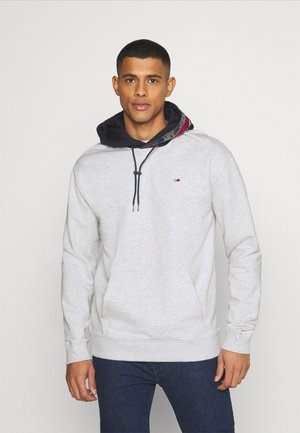 CONTRAST HOOD GRAPHIC HOODIE UNISEX - Bluza - twilight navy/silver grey
