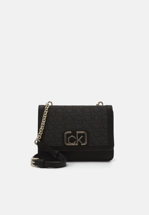 FLAP SHOULDER BAG - Across body bag - black