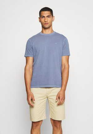 BUTLER TEE EMBROIDERY - Basic T-shirt - washed blue