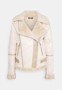 Fashion Union Tall - FAUX FUR TRIM AVIATOR - Vinterjakke - cream - 0
