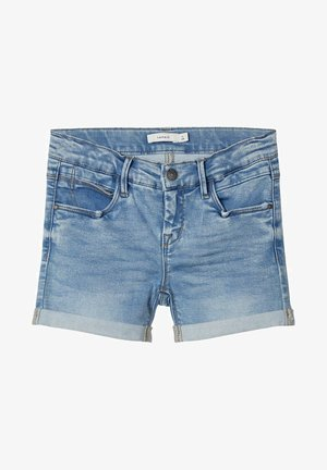 Denim shorts - medium blue denim
