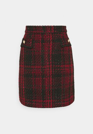 TEXTURED SKIRT - Mini skirt - red