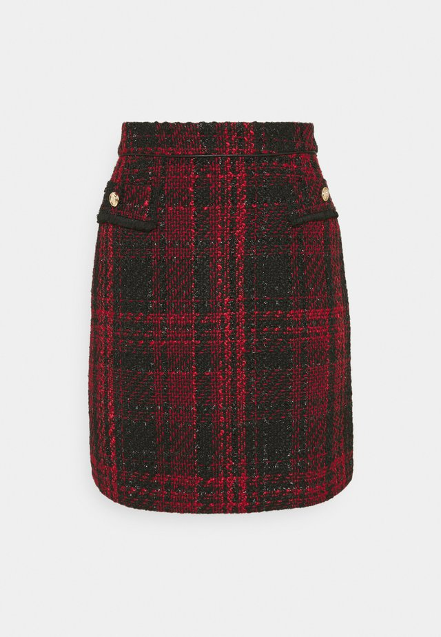 TEXTURED SKIRT - Minihame - red
