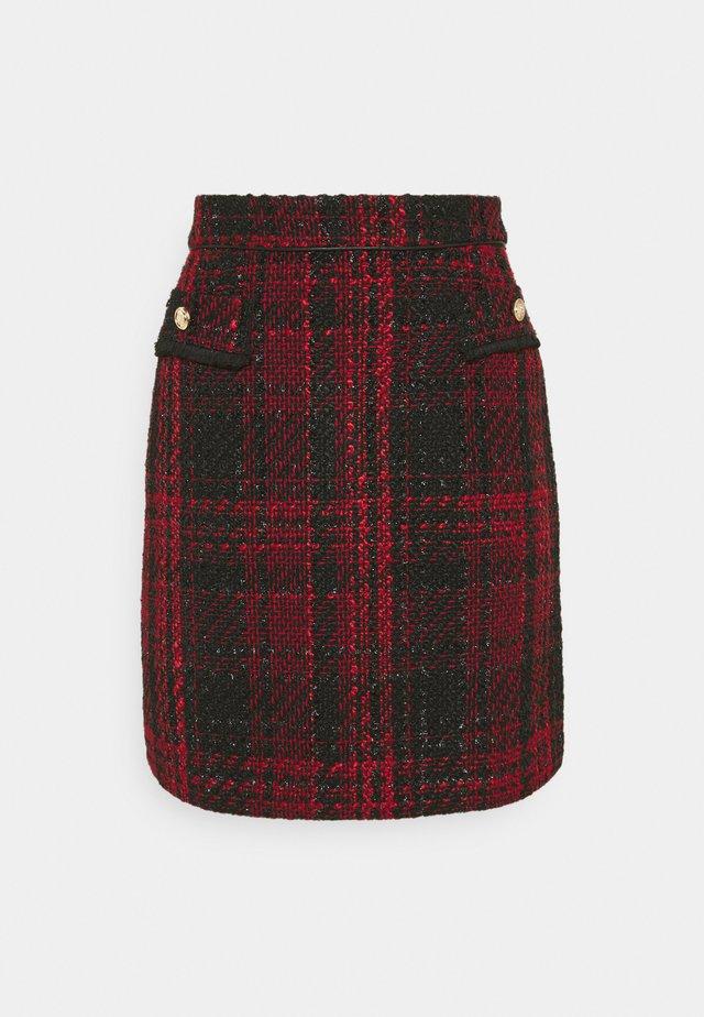 TEXTURED SKIRT - Mini skirt - red