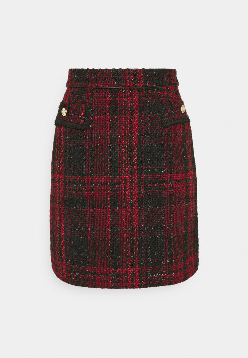 Wallis - TEXTURED SKIRT - Miniskjørt - red