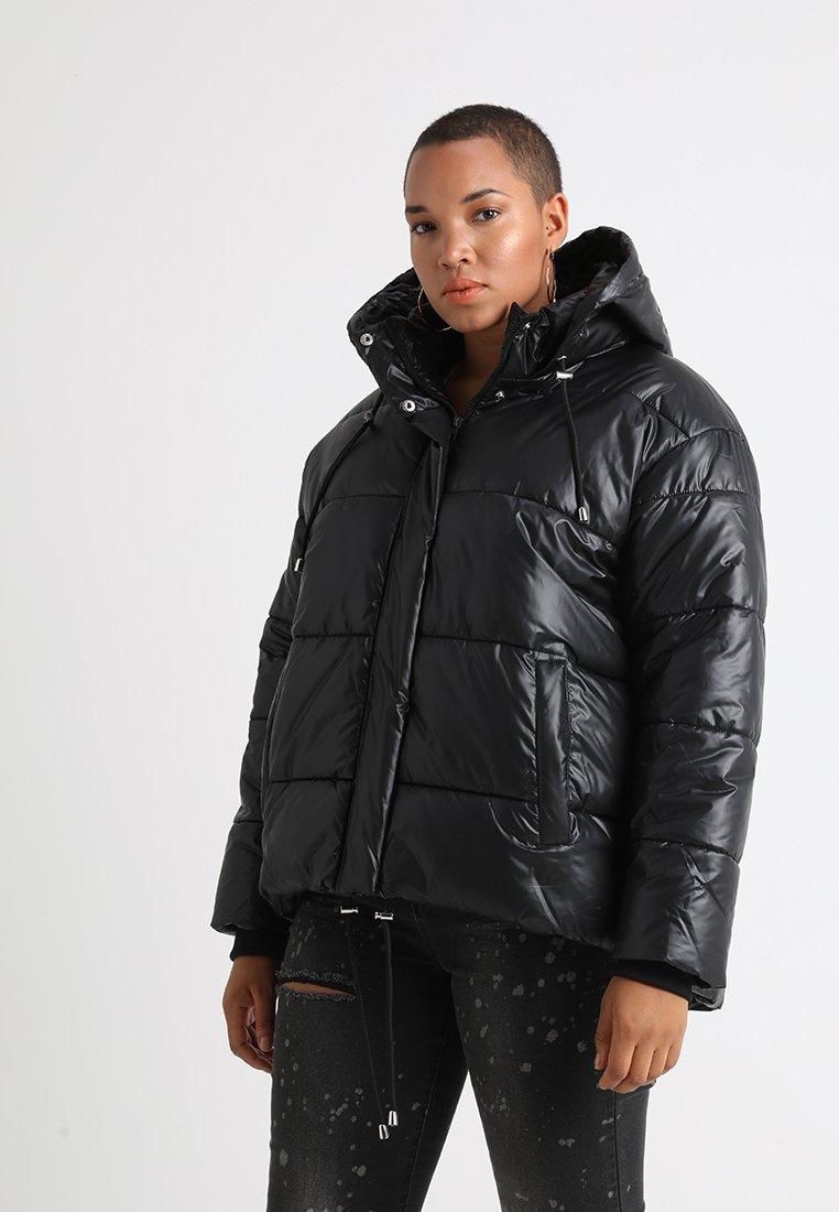 Urban Classics Curvy - LADIES VANISH PUFFER JACKET - Zimní bunda - black
