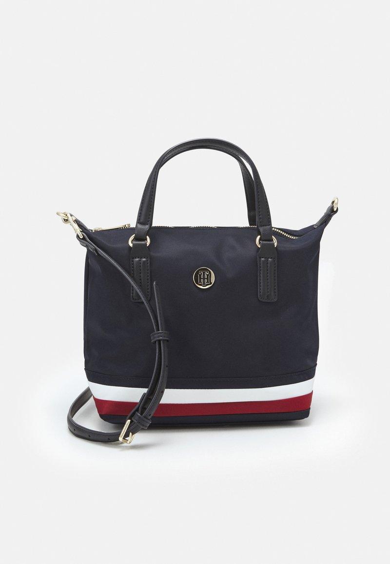 Tommy Hilfiger - POPPY SMALL TOTE - Handbag - navy corporate
