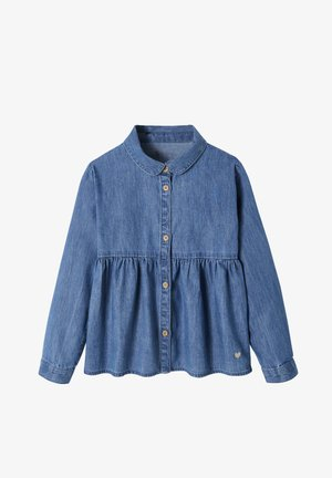 Button-down blouse - blue stone