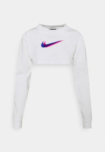 CROP  - T-shirt à manches longues - white