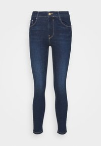 PULL&BEAR - PUSH UP - Skinny džíny - mottled dark blue - 6