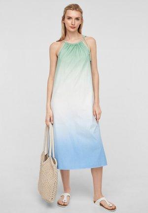 Korte jurk - turquoise tie dye