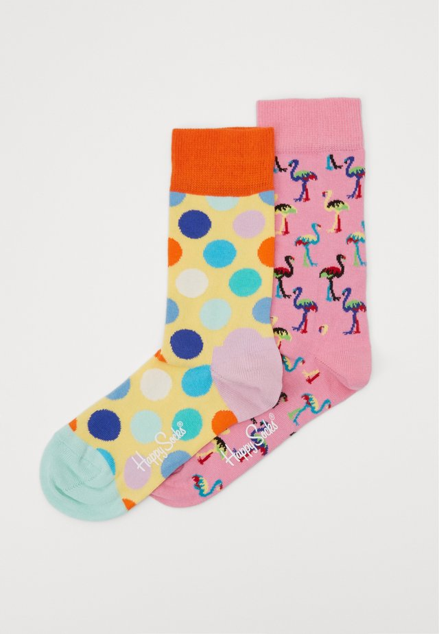 2 PACK FLAMINGO  BIG DOT  - Socks - multi
