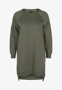 Zizzi - Jersey dress - green - 3