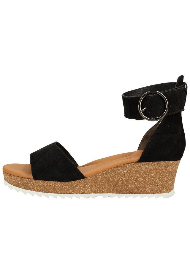Sandales compensées - schwarz 56