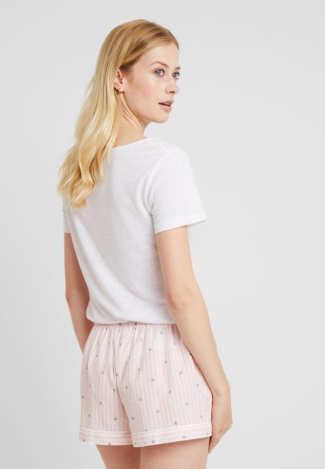 LITTLE STRIPE SHORTS - Pyjamahousut/-shortsit - rose/weiss