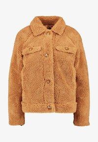 Missguided Tall - CROP BORG TRUCKER - Light jacket - tan - 3