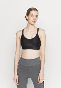 Under Armour - INFINITY MID PRINTED BRA - Medium support sports bra - black - 0