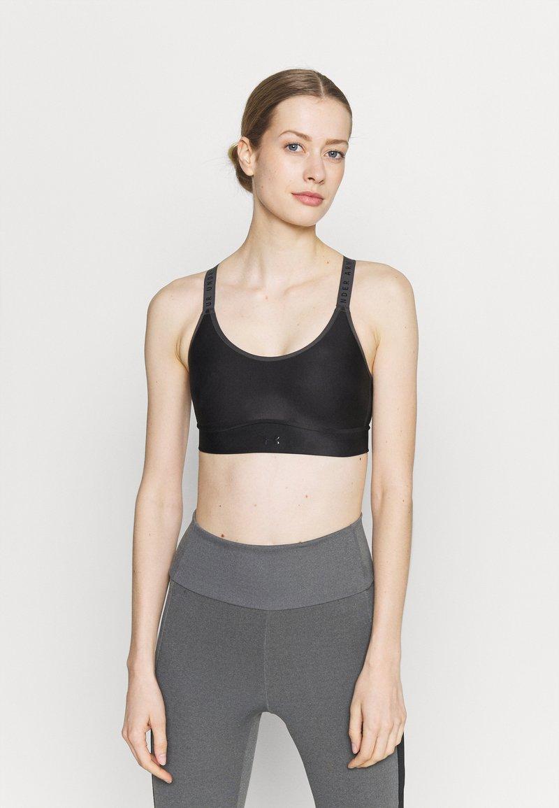 Under Armour - INFINITY MID PRINTED BRA - Medium support sports bra - black