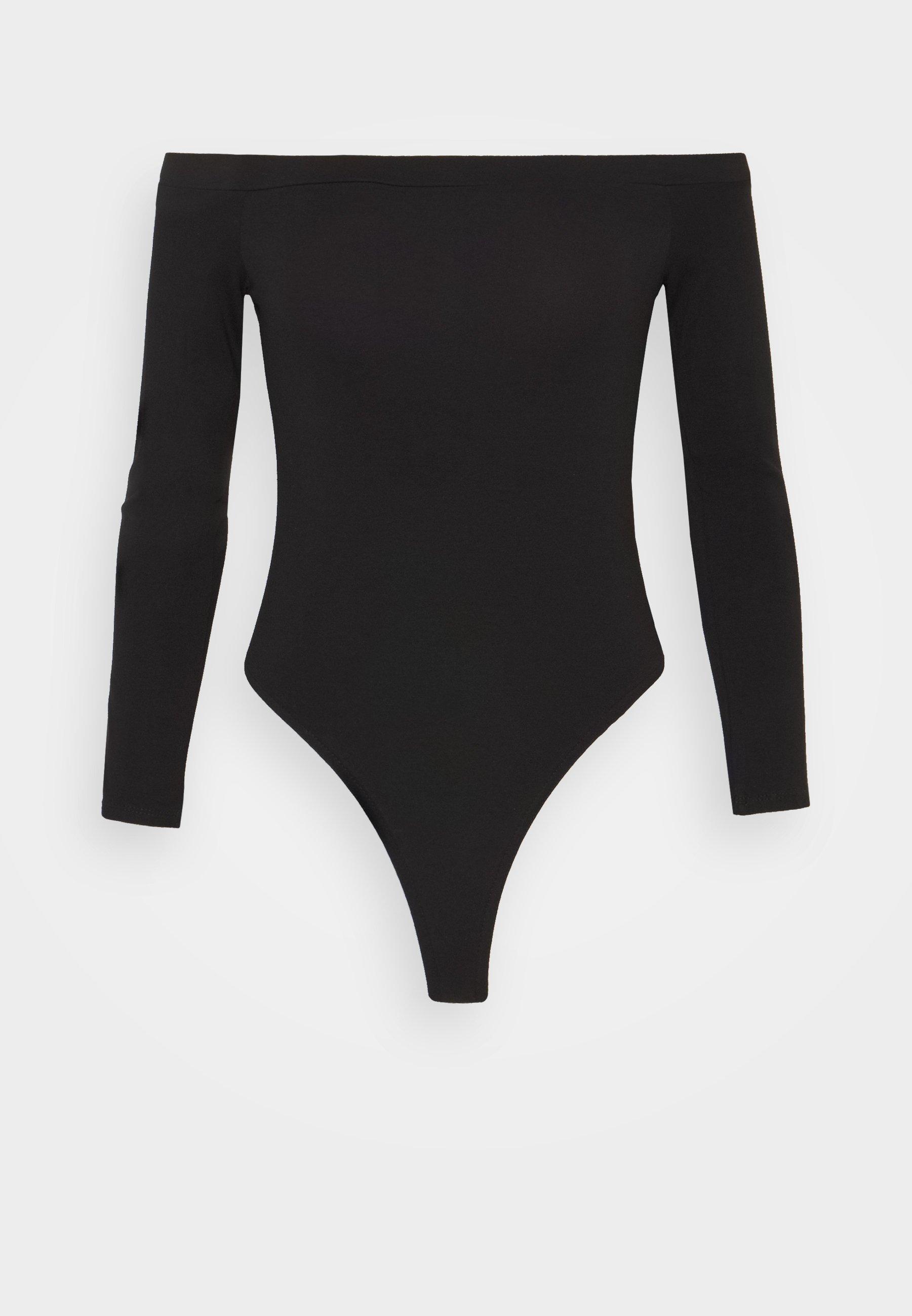 Women LONG SLEEVED BARDOT BODYSUIT - Long sleeved top